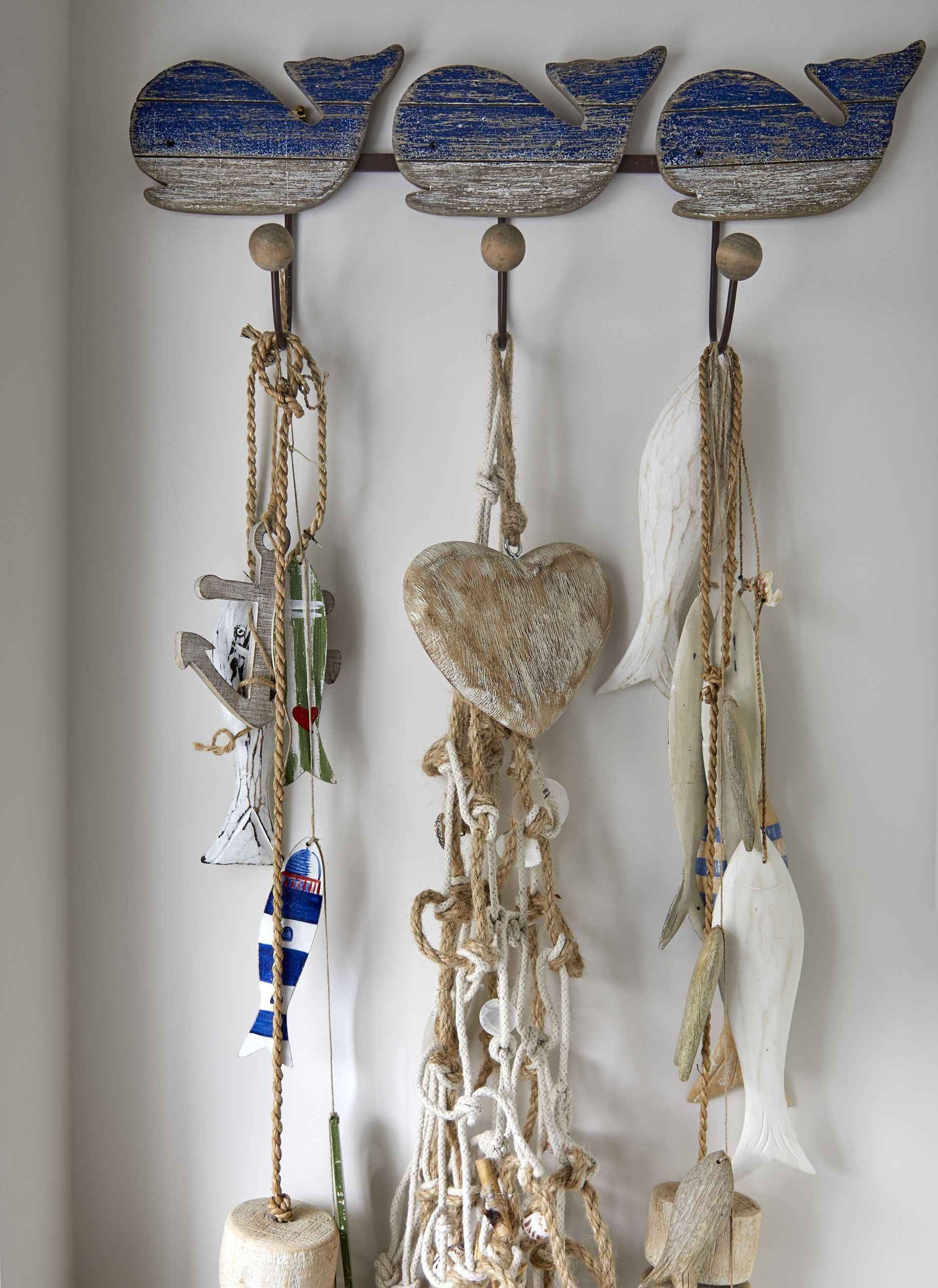 Hanging trinkets on the wall of the pirate room of mountain ash house